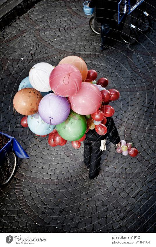 Farbe Erholung Straße Glück Kindheit Luftballon
