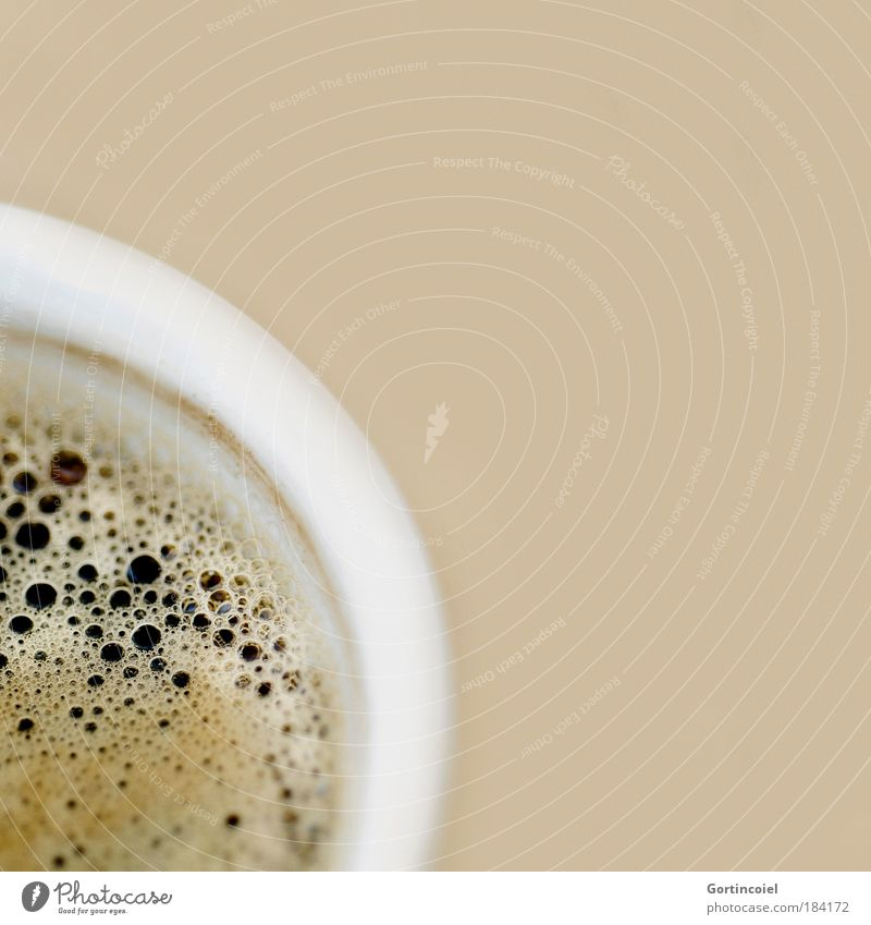 Kahve Lebensmittel Kaffeetrinken Getränk Heißgetränk Espresso Schaum Tasse lecker Kaffeetasse Kaffeepause beige Koffein Foodfotografie Farbfoto Innenaufnahme