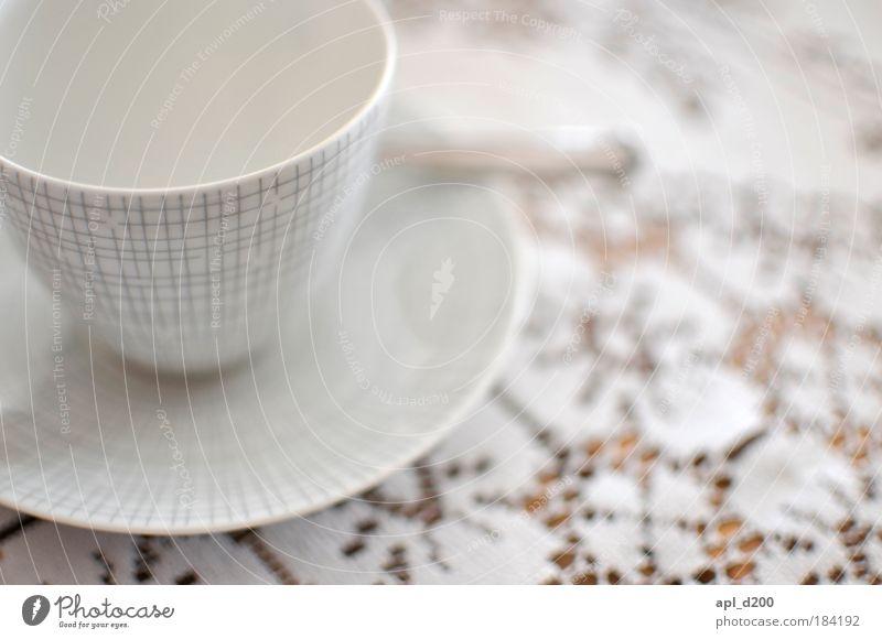 Tasse leer alt weiß Ernährung Zufriedenheit braun Design Getränk ästhetisch Kaffee stehen authentisch Kitsch Sauberkeit außergewöhnlich Geschirr