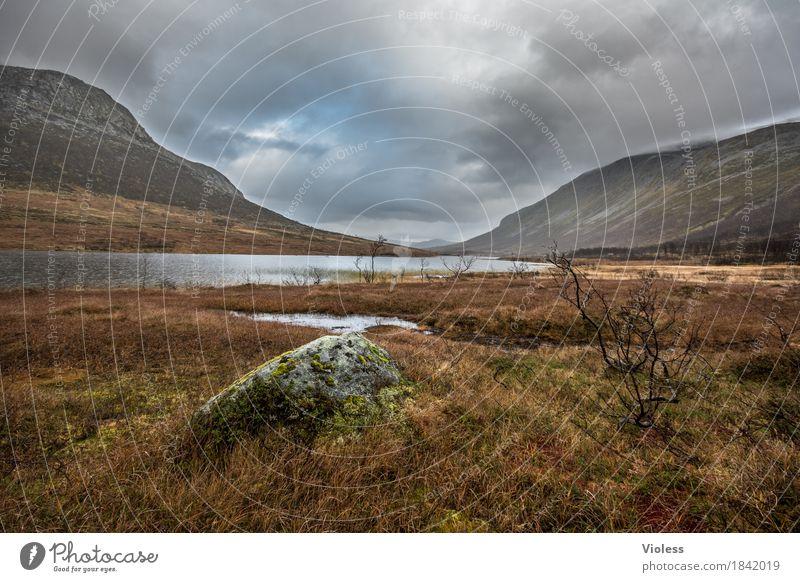 endlose Zeit...... Himmel Natur Landschaft Erholung ruhig Berge u. Gebirge Umwelt Herbst Stein Wetter fantastisch Unwetter Schlucht atmen Norwegen Fjord