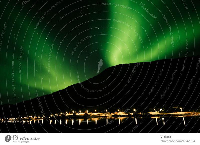 northern lights IV Himmel Natur Himmel (Jenseits) Wolken Herbst Bewegung außergewöhnlich Horizont geheimnisvoll Unendlichkeit Surrealismus Norwegen Nachthimmel