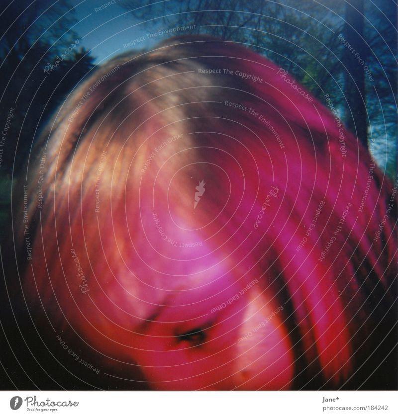 ...da wars noch warm Mensch Natur Jugendliche schön Baum blau Gesicht Auge Leben Erholung feminin Haare & Frisuren Wärme Zufriedenheit Erwachsene rosa