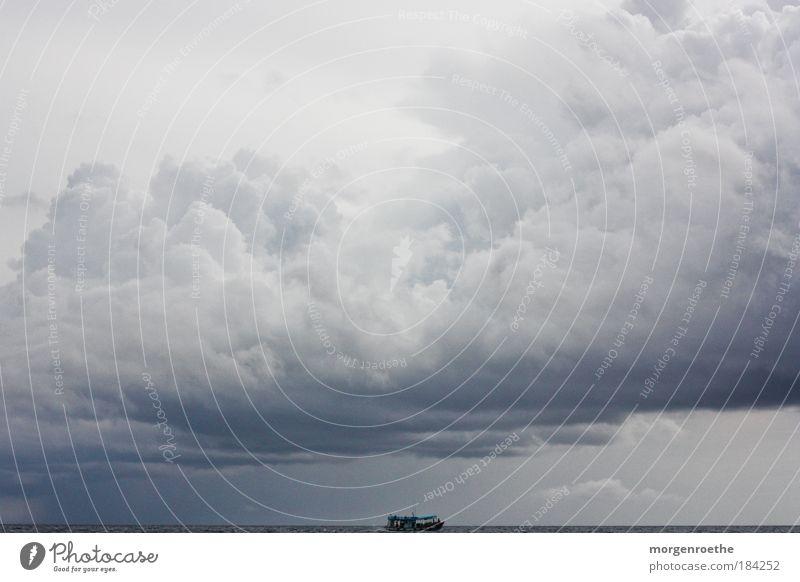 auf dem indischen ozean Natur Wasser weiß Meer blau Sommer Wolken dunkel Arbeit & Erwerbstätigkeit grau See Wellen Horizont Verkehr Geschwindigkeit Wetter