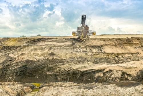 tagebau Landschaft Umwelt braun Sand Erde Energiewirtschaft Technik & Technologie Vergänglichkeit Industrie Wandel & Veränderung Vergangenheit Verfall