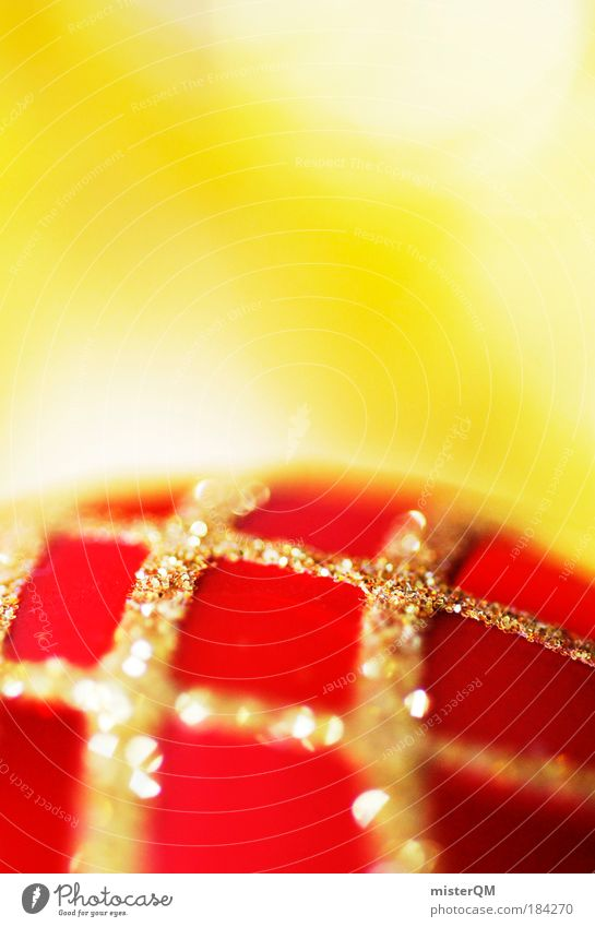 Merry Christmas - Golden Times Weihnachten & Advent rot Winter Feste & Feiern Design glänzend Dekoration & Verzierung ästhetisch Kirche Kultur Zeichen Kitsch