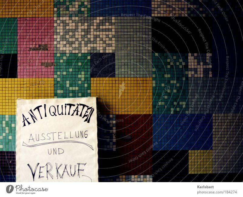 antiquitäten. Wand Mauer Linie Kunst Fassade Schilder & Markierungen Design Lifestyle Schriftzeichen Kultur Kitsch Quadrat Kreativität Muster Veranstaltung