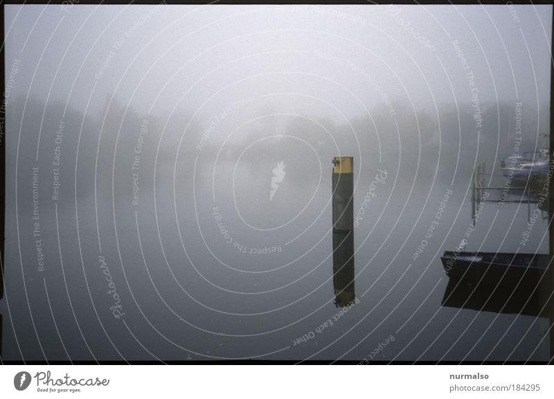 Optima'ler Nebel Nr 1 Gedeckte Farben Experiment Menschenleer Dämmerung Silhouette Reflexion & Spiegelung Freizeit & Hobby Ferne Safari Insel Kunst Gemälde