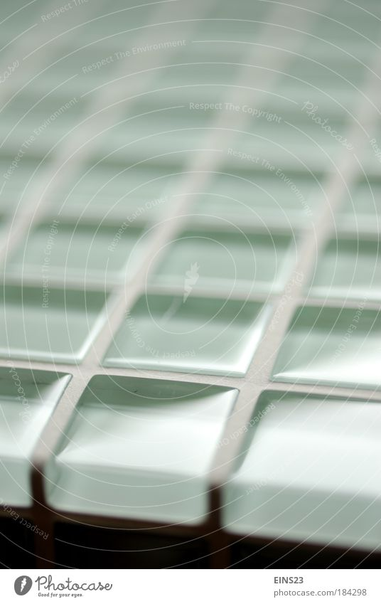 Mosaikfliesen Farbfoto Gedeckte Farben Innenaufnahme Makroaufnahme Menschenleer Textfreiraum oben Unschärfe Totale Wohnung Bad Glas elegant frisch schön grün