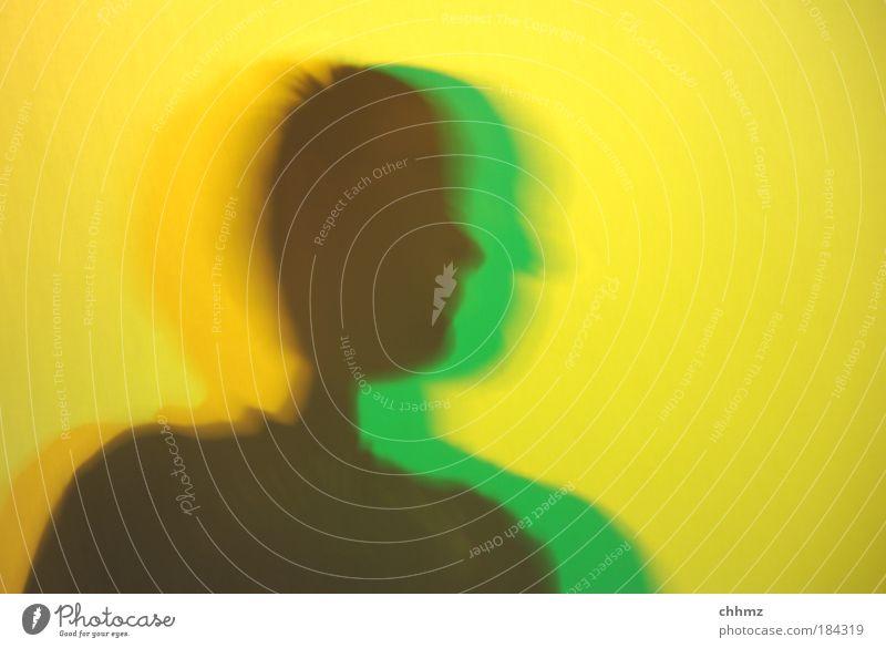 Jamaika Mensch grün schwarz gelb Kopf Design ästhetisch Kitsch Schatten Brust Silhouette Kreativität bizarr Koalition
