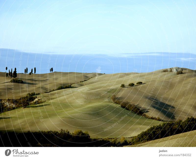 felder aus samt Himmel Pflanze schön Erholung Landschaft Ferne Berge u. Gebirge Umwelt Stil Sand Design Zufriedenheit Tourismus Luft elegant Wellen