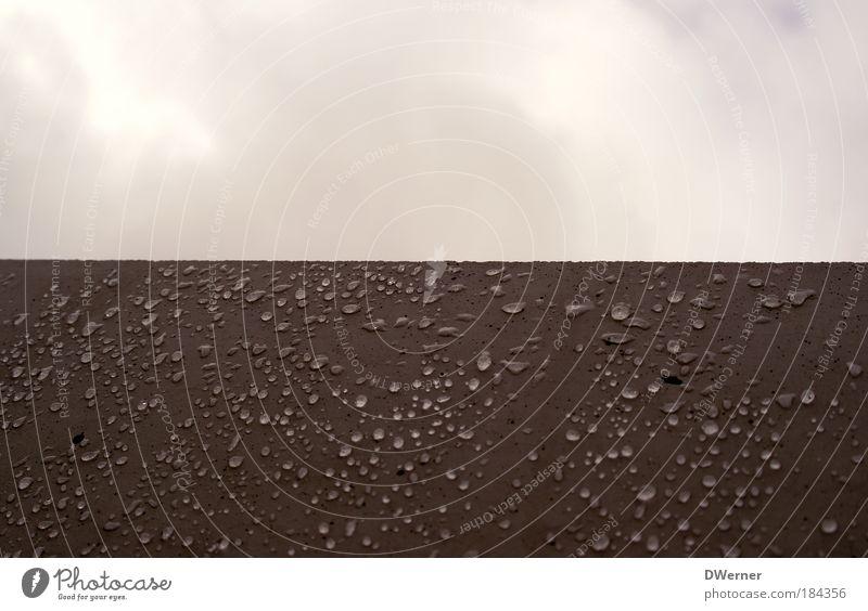 Mauertropfen Winter Kunst Künstler Kunstwerk Umwelt Natur Wasser Wassertropfen Himmel Wolken schlechtes Wetter Nebel Regen Denkmal nass braun rot Klima Tropfen