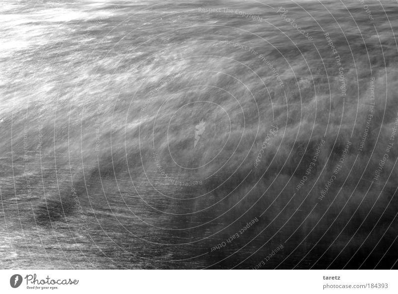 das weiße Rauschen Natur Wasser Meer kalt Bewegung Wellen nass Geschwindigkeit zart Urelemente Zentralperspektive Atlantik Rauschen überlagert