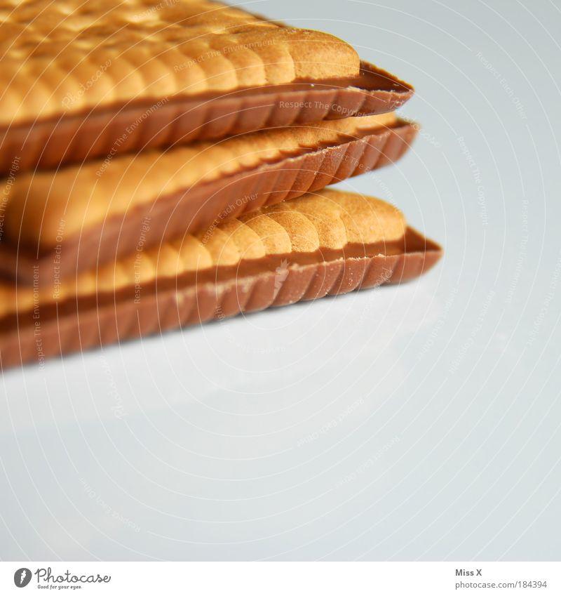 Butterkex Lebensmittel Teigwaren Backwaren Süßwaren Schokolade Duft klein lecker Butterkeks Keks eckig ungesund süß Ernährung Freisteller Farbfoto Innenaufnahme