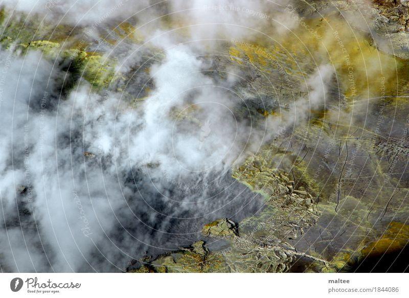 Volcano Umwelt Natur Urelemente Feuer Vulkan bedrohlich groß heiß stark gelb weiß Macht schön gefährlich Abenteuer ästhetisch Umweltschutz Erde Farbfoto