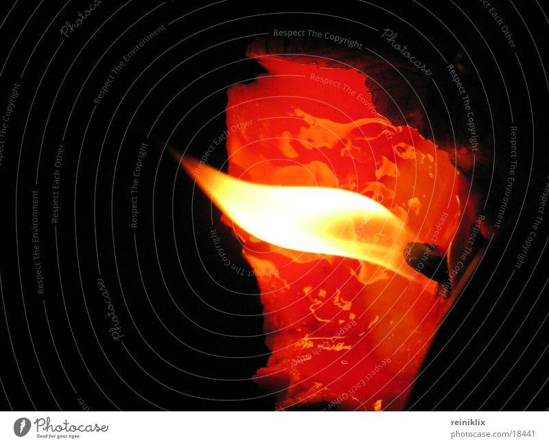 Flamme 1 Licht Kerze brennen Flackern Dinge Nahaufnahme