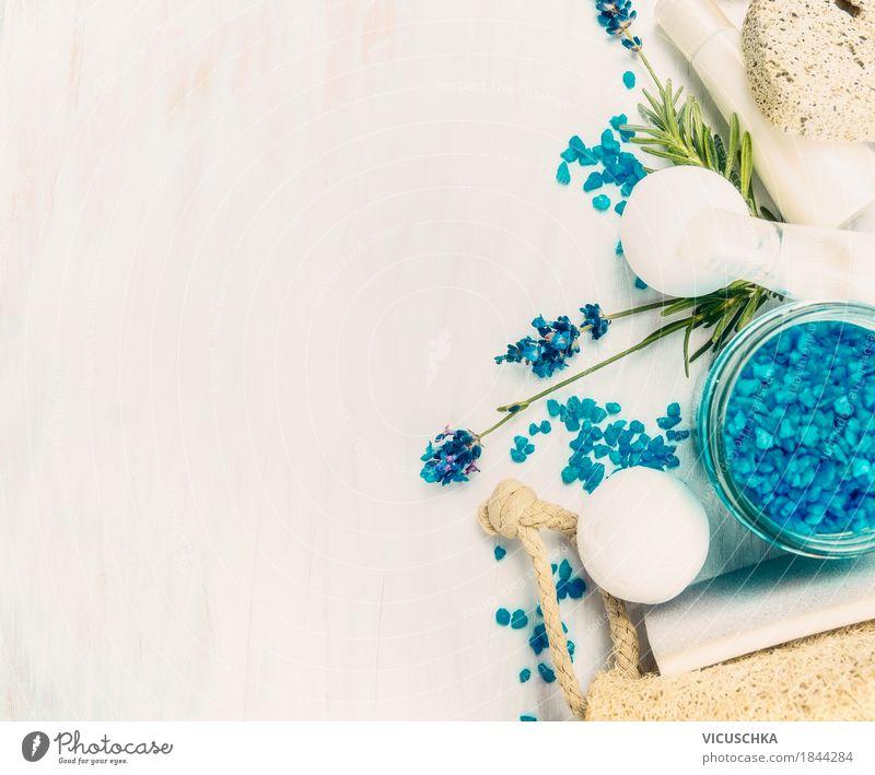 Lavendel Spa Lifestyle Stil Design schön Körperpflege Kosmetik Wellness Wohlgefühl Duft Kur Massage Natur Pflanze Hintergrundbild Blume Badesalz Farbfoto