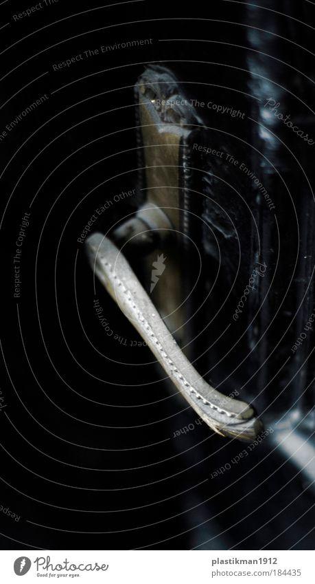 Türgriff Detailaufnahme Makroaufnahme Schwache Tiefenschärfe Haus Griff Türschloss Schlüssel Sicherheit Schutz Nostalgie alt Eingang