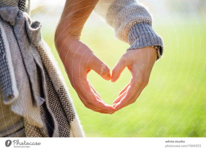Just Love Mensch Junge Frau Jugendliche Junger Mann Erwachsene Liebe Liebespaar Liebesbekundung Liebesleben Liebesbeziehung Herz Hand Strukturen & Formen 2
