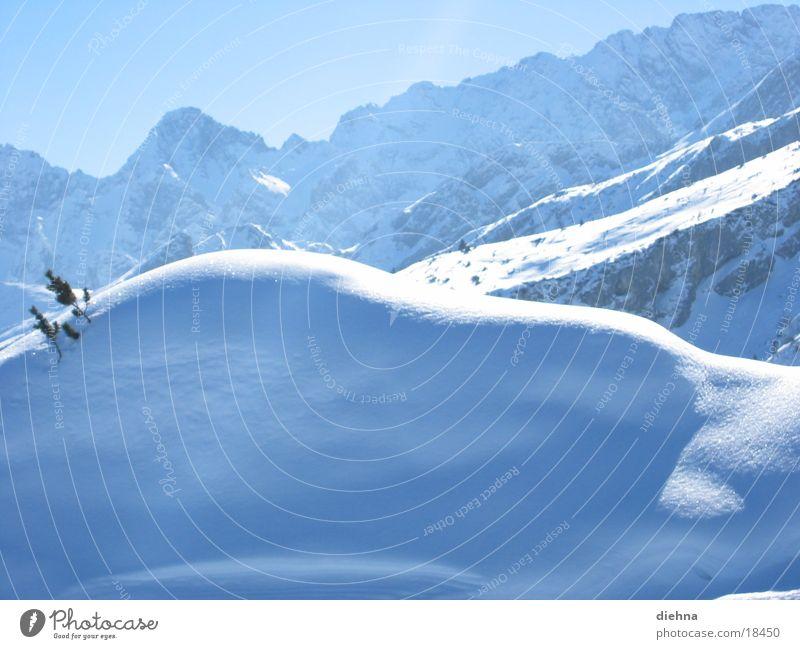 Schnee Sonne Berge u. Gebirge Beleuchtung