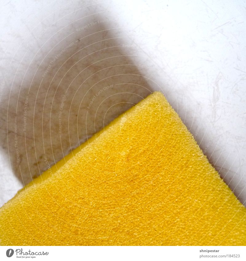 Spitzenschwamm weiß gelb Berge u. Gebirge grau Arbeit & Erwerbstätigkeit Wohnung Erfolg Design Häusliches Leben Reinigen weich Sauberkeit Küche Konzentration Gesellschaft (Soziologie) Duft