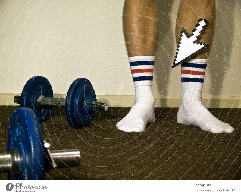 These Socks can change your Life schön Raum Sport Fitness Sport-Training Sportler Gewichtheben Krafttraining Karriere Mensch maskulin Mann Erwachsene Beine Fuß