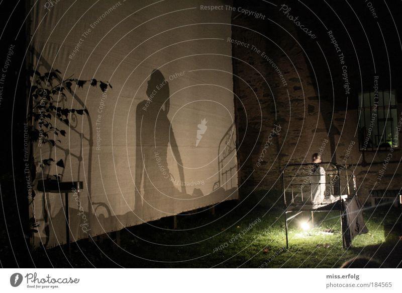 Schattiges Bettchen Mensch Schatten Jugendliche Farbe Erwachsene feminin Gefühle Gras Glück Garten Nacht träumen Konzert Licht Möbel 18-30 Jahre