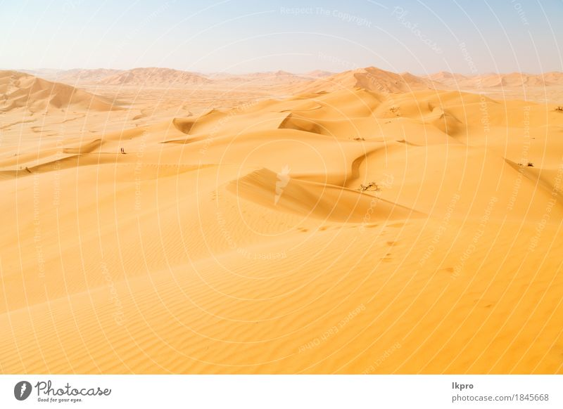 und Outdoor-Sanddüne in Oman alten Wüste Rub al Khali Himmel Natur Ferien & Urlaub & Reisen Sommer schön weiß Sonne Landschaft Einsamkeit schwarz gelb grau