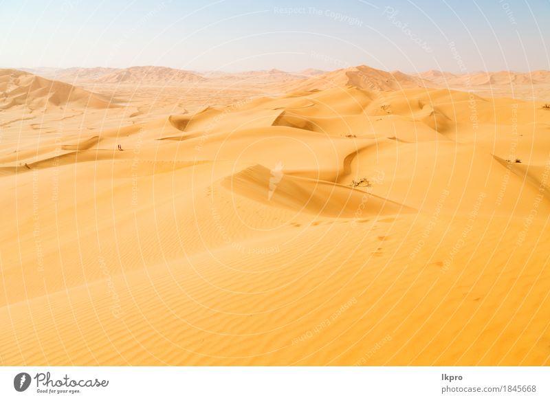 und Outdoor-Sanddüne in Oman alten Wüste Rub al Khali schön Ferien & Urlaub & Reisen Tourismus Abenteuer Safari Sommer Sonne Natur Landschaft Himmel Horizont
