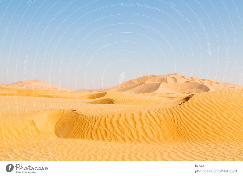 Düne in Oman alte Wüste Rub al khali Himmel Natur Ferien & Urlaub & Reisen Sommer schön weiß Sonne Landschaft Einsamkeit schwarz gelb grau Stein Sand Felsen
