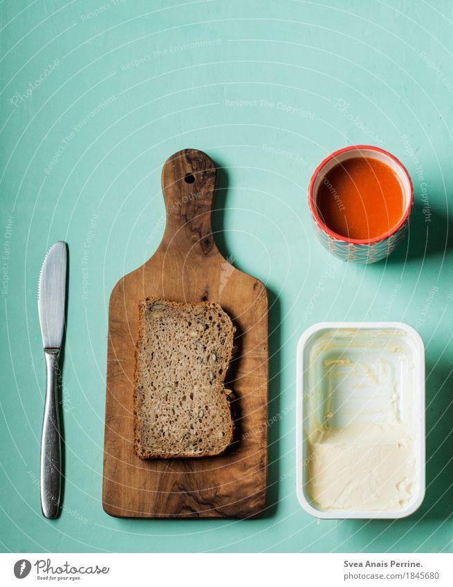brot. Essen außergewöhnlich Lebensmittel Ernährung Getränk Frühstück Reichtum Brot Messer Diät Schneidebrett Fasten Saft Vegane Ernährung Butter Esstisch
