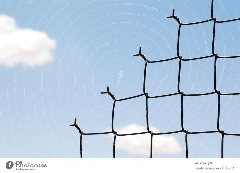 Borders. Himmel Einsamkeit Wolken Freiheit Traurigkeit Angst Trauer USA Politik & Staat Zaun Vergangenheit Grenze Krieg Trennung DDR Barriere