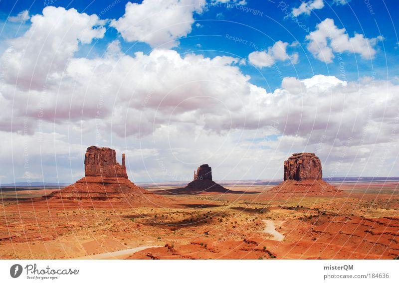 Erhaben. Natur alt rot Ferien & Urlaub & Reisen Freiheit Umwelt Landschaft 3 groß ästhetisch USA Wüste Nationalitäten u. Ethnien Amerika Naturphänomene Arizona