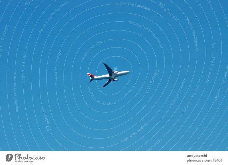 Swiss Himmel blau Luftverkehr Flügel Schönes Wetter Abdeckung