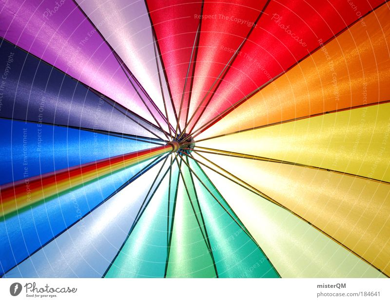 Colours. Muster abstrakt Farbe mehrfarbig Glück Mode Zufriedenheit Makroaufnahme Design modern ästhetisch Fröhlichkeit verrückt Kitsch Zeichen Regenschirm
