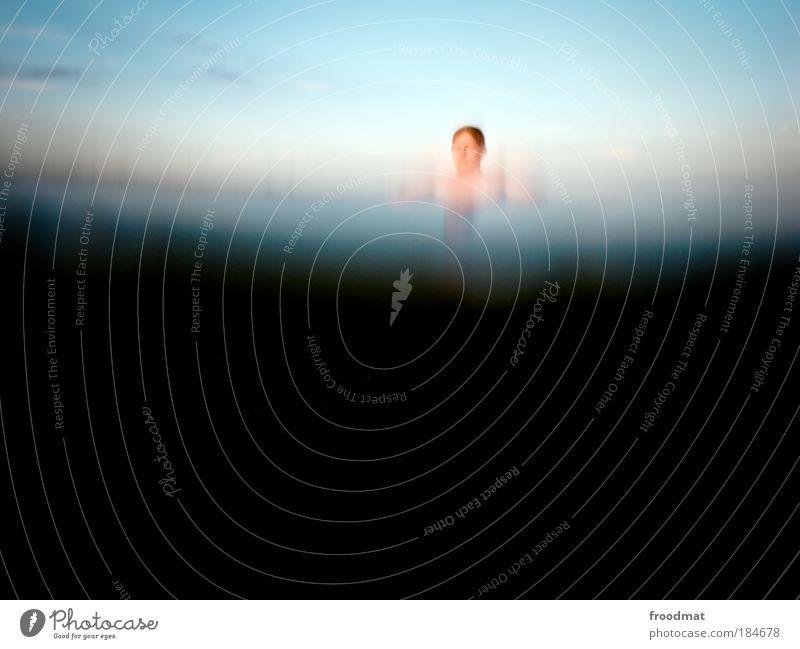 u-boot Farbfoto Außenaufnahme Unterwasseraufnahme Experiment Tag Froschperspektive Oberkörper Vorderansicht Freude Wellness Schwimmen & Baden Mensch maskulin