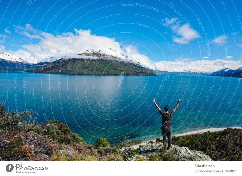 Abenteuer Neuseeland Lifestyle exotisch Freude Ferien & Urlaub & Reisen Ausflug Ferne Freiheit Expedition Camping Berge u. Gebirge wandern Mensch Junger Mann