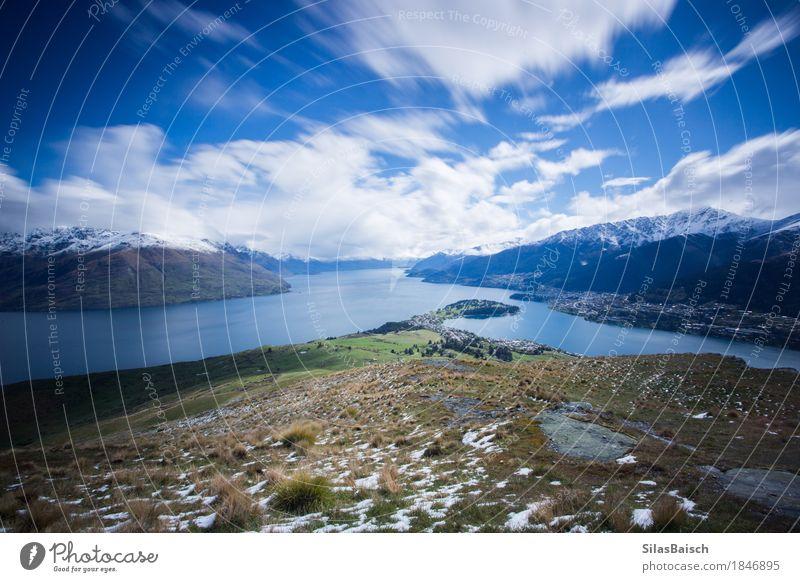 Laka Wakatipu wandern Umwelt Natur Landschaft Schnee Pflanze Hügel Felsen Berge u. Gebirge Gipfel Schneebedeckte Gipfel Seeufer Abenteuer Einsamkeit einzigartig