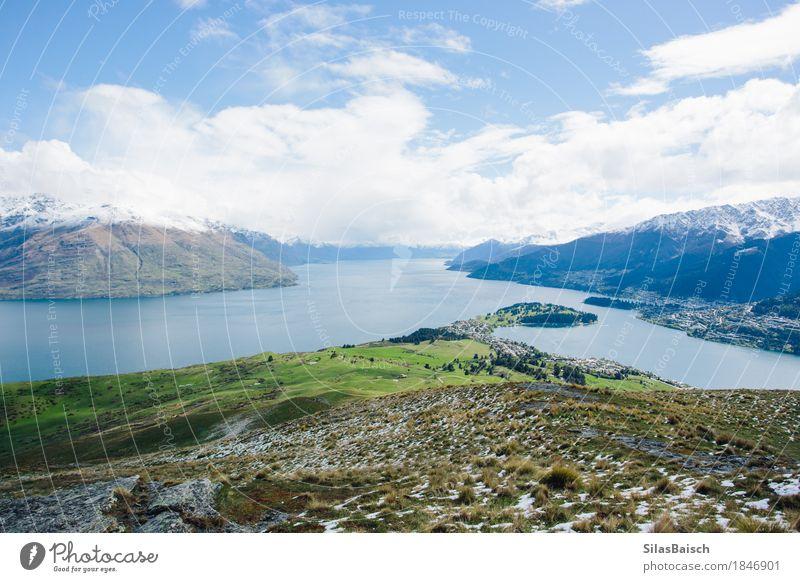 Lake Wakatipu Lifestyle Ferien & Urlaub & Reisen Tourismus Ausflug Abenteuer Ferne Freiheit Expedition Berge u. Gebirge wandern Umwelt Natur Landschaft Pflanze