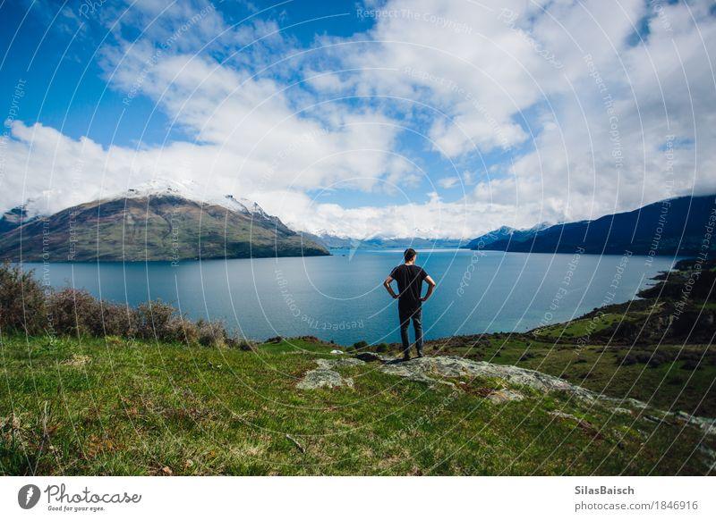 Um die Welt reisen Lifestyle Freude Ferien & Urlaub & Reisen Ausflug Abenteuer Ferne Freiheit Sightseeing Berge u. Gebirge wandern Fitness Sport-Training Mensch