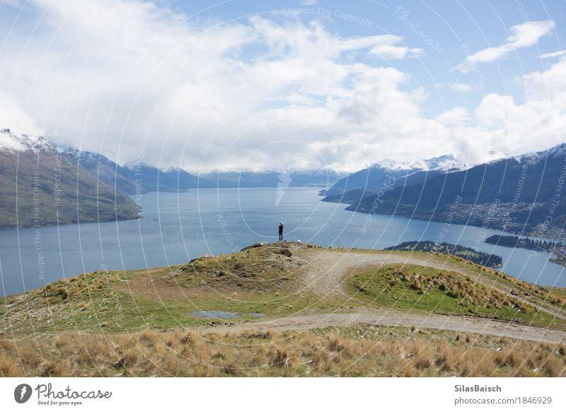 Natur Ferien & Urlaub & Reisen Pflanze Sommer Landschaft Wolken Ferne Berge u. Gebirge Umwelt Freiheit Gesundheitswesen See Felsen Tourismus Ausflug wandern