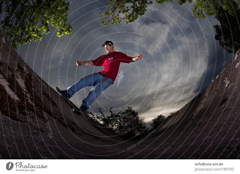 Skyramp Jugendliche Sport Bewegung Erwachsene maskulin Aktion Skateboarding Skateboard Sportler Halfpipe 18-30 Jahre