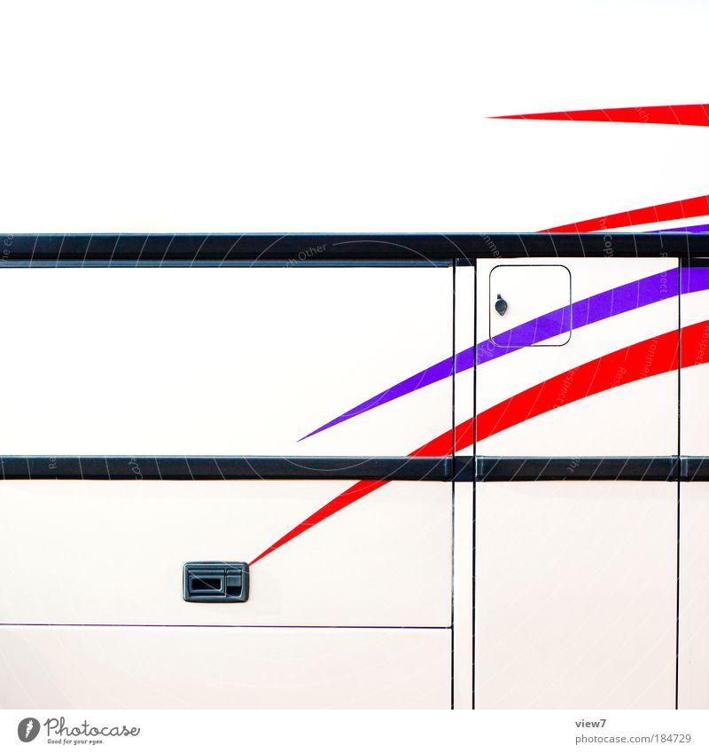 Dekorstreifen Farbfoto mehrfarbig Außenaufnahme Detailaufnahme Menschenleer Textfreiraum oben Starke Tiefenschärfe Fahrzeug Bus Metall Zeichen Linie Streifen