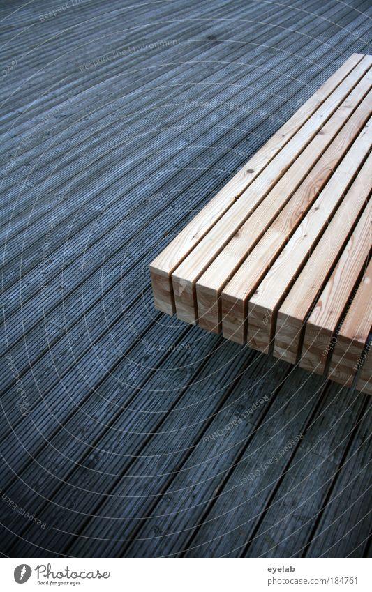 Schattierungen in Holz alt Baum Ferne Erholung grau braun elegant Ordnung Platz liegen Design modern ästhetisch neu Pause