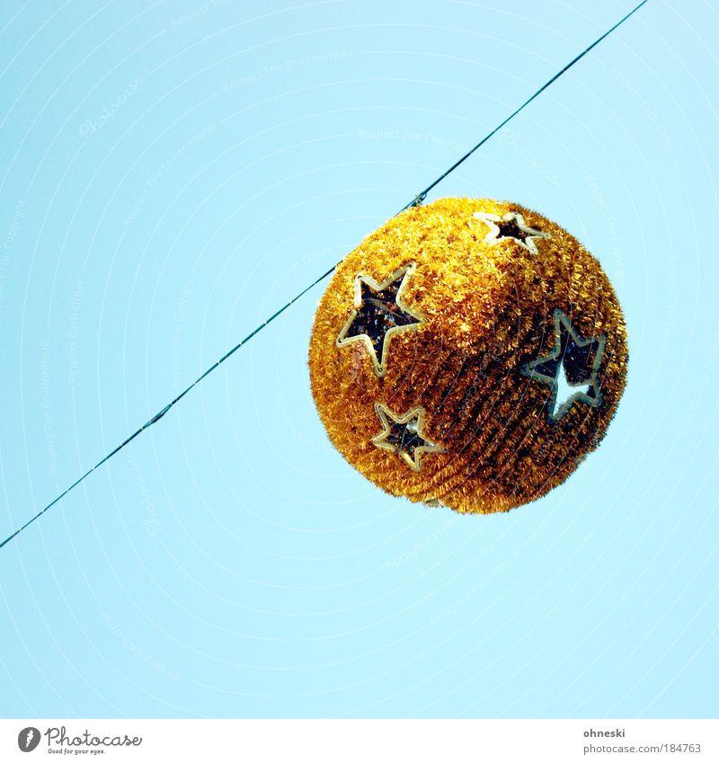 Weihnachtskugel Weihnachten & Advent Himmel Sonne blau Luft Stern gold Weihnachtsdekoration Discokugel Weihnachtsstern Weihnachtsmarkt Markt