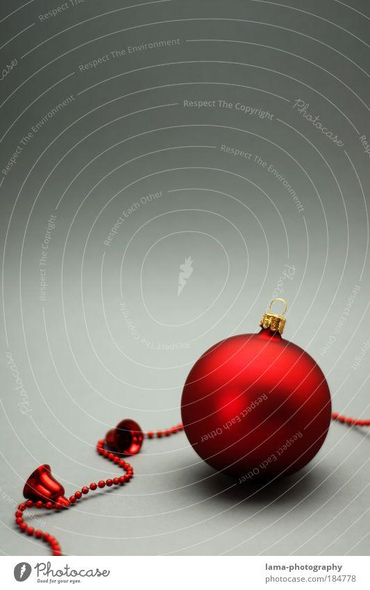 Weihnachtskarte 2009 Weihnachten & Advent rot Licht glänzend Kitsch Dekoration & Verzierung Christbaumkugel Glocke Weihnachtsdekoration Baumschmuck Glockenspiel