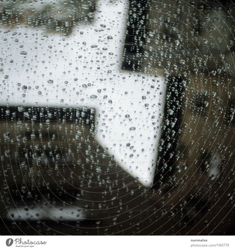 Tränenecke Gedeckte Farben Abend Kontrast Silhouette Reflexion & Spiegelung Haus Traumhaus Fabrik Kunst Umwelt Wassertropfen Himmel Herbst Klima Wetter