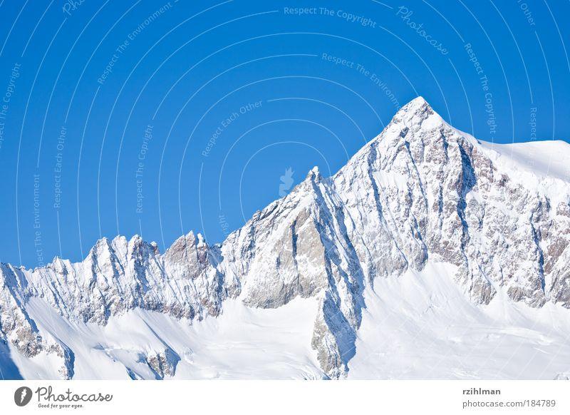 Bergkamm blau weiß Sonne Winter Wolken kalt Berge u. Gebirge hell Nebel frisch Landschaft Himmel Hügel Alpen Gipfel Schweiz