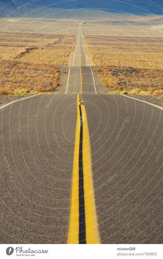 long way home. Kalifornien Ferne Straße Wege & Pfade Schilder & Markierungen Landschaft abstrakt Perspektive Medien Ferien & Urlaub & Reisen Wissenschaften
