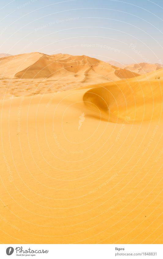 Sanddüne in Oman alten Wüste Rub al khali Himmel Natur Ferien & Urlaub & Reisen Sommer schön weiß Sonne Landschaft Einsamkeit schwarz gelb grau Stein Felsen