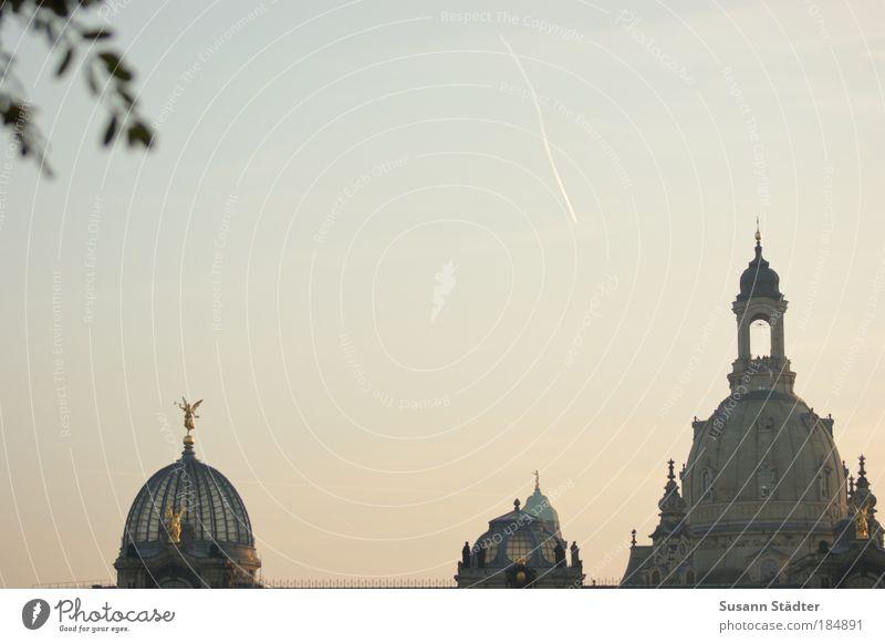 Zipfelbuben alt Himmel Spielen Gebäude Kunst Architektur hoch Fassade Dach Dresden Gipfel Skyline Denkmal Bauwerk historisch